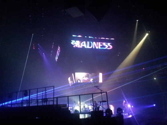 "From the Connecticut show: the ""Madness"" lyrics video that accompanies Matt Bellamy's atonement song for Kate Hudson. M-M-M-M-M-M-Madness."
